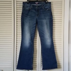 LEVIS DENIZEN MODERN BOOT CUT DENIM BLUE JEANS